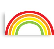 retro rainbow Canvas Print