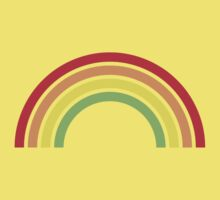 retro rainbow One Piece - Short Sleeve