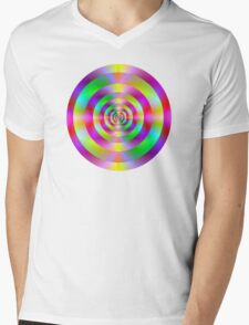 Psychedelic Rings Mens V-Neck T-Shirt