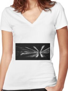 Waiting to go Women's Fitted V-Neck T-Shirt