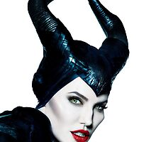 Maleficent White Phone Case by Neyde