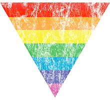 rainbow triangle Photographic Print