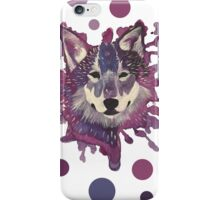 Splatter Wolf iPhone Case/Skin