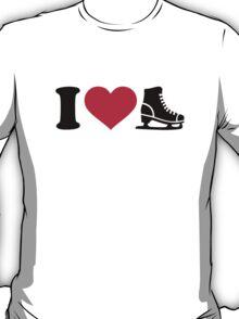 I love skate speed figure skating T-Shirt