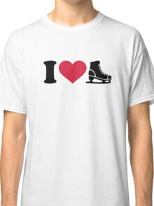 I love skate speed figure skating Classic T-Shirt