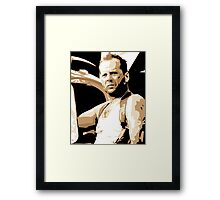 Bruce Willis Vector Illustration Framed Print