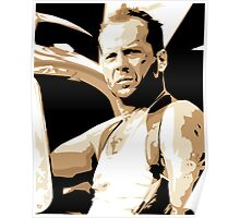 Bruce Willis Vector Illustration Poster