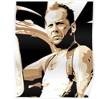 Bruce Willis Vector Illustration Poster