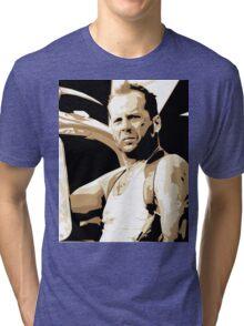 Bruce Willis Vector Illustration Tri-blend T-Shirt