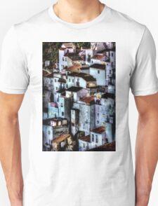 Casares, Andalusia, Spain. A famous white village Unisex T-Shirt