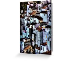 Casares, Andalusia, Spain. A famous white village Greeting Card