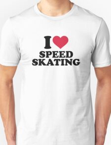 I love Speed skating Unisex T-Shirt