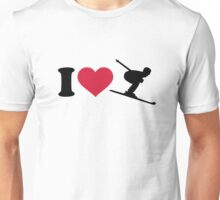 I love downhill skiing Unisex T-Shirt