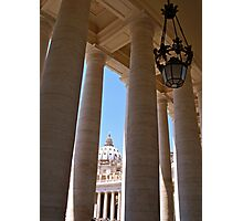 The Colonnade of the Piazza San Pietro Photographic Print