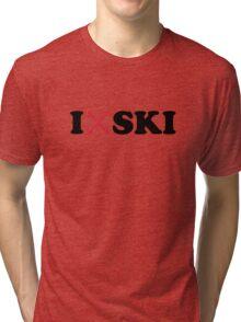 I love ski Tri-blend T-Shirt
