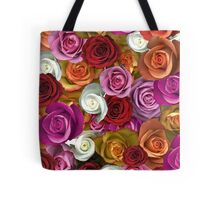 Multi Colored Roses Tote Bag