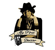 My first Doctor (Who) Fourth 4th Tom Baker Photographic Print