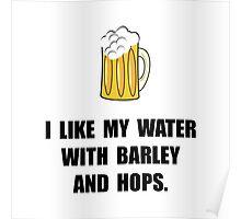 Barley Hops Beer Poster