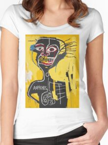 Basquiat AOTKHPES Samo Women's Fitted Scoop T-Shirt