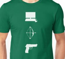 Team Arrow - Symbols - Weapons Unisex T-Shirt