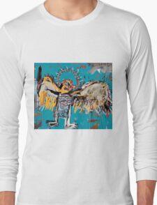 Basquiat unfallen angel ange en vol Long Sleeve T-Shirt