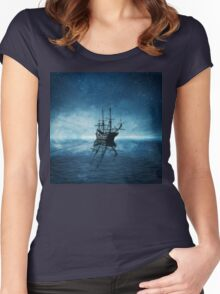 ghost ship 1 Women's Fitted Scoop T-Shirt