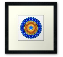 Third Eye Mandala Art by Sharon Cummings Framed Print