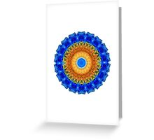 Third Eye Mandala Art by Sharon Cummings Greeting Card