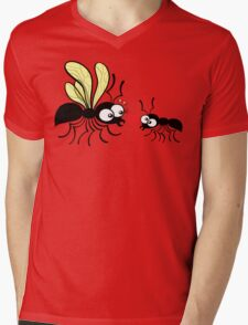 Shy worker ant declaring its love to the queen ant Mens V-Neck T-Shirt