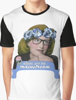 Hipster Scully - Aliens are too Mainstream Graphic T-Shirt