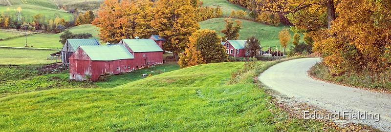 Jenne Farm Vermont Panoramic by Edward Fielding