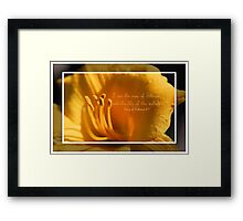 I am the Rose of Sharon and the Lily of the Valley Framed Print