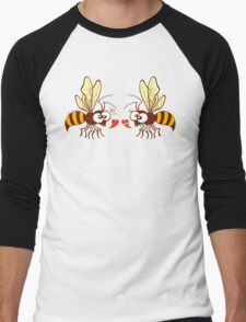 Couple of beautiful bees discussing about love Men's Baseball ¾ T-Shirt