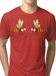 Couple of beautiful bees discussing about love Tri-blend T-Shirt