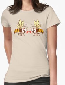 Couple of beautiful bees discussing about love Womens Fitted T-Shirt