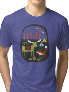 Woodland camping trip Tri-blend T-Shirt