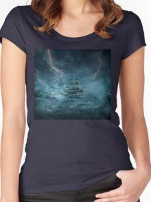 ghost ship III Women's Fitted Scoop T-Shirt