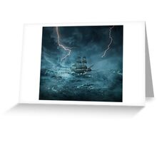 ghost ship III Greeting Card