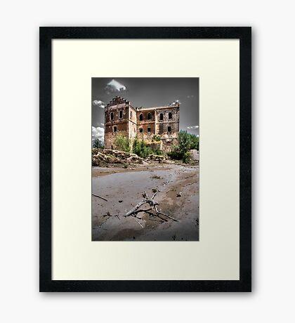 Abandoned, haunted house in Cordoba Framed Print