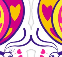 Couple of beautiful butterflies madly falling in love Sticker