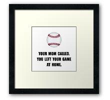 Baseball Game At Home Framed Print