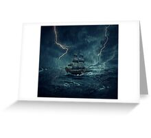 Ghost ship 4 Greeting Card