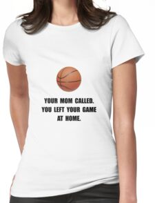Basketball Game At Home Womens Fitted T-Shirt