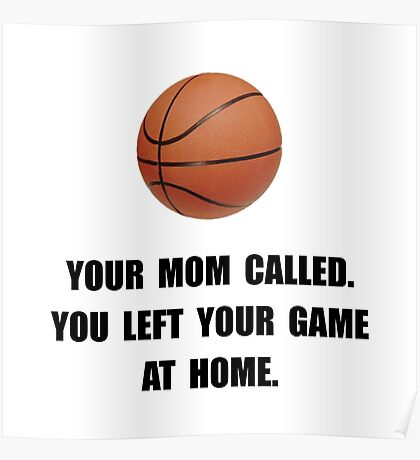 Basketball Game At Home Poster