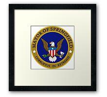 SIMPSONS MAYOR SPRINGFIELD Framed Print
