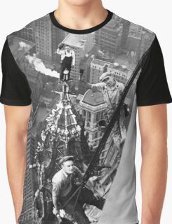 Vintage Photo of Workers in New York Graphic T-Shirt