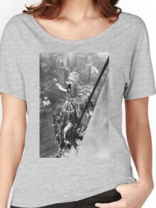 Vintage Photo of Workers in New York Women's Relaxed Fit T-Shirt