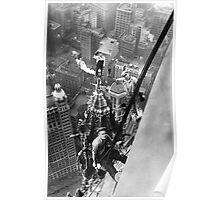 Vintage Photo of Workers in New York Poster