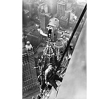 Vintage Photo of Workers in New York Photographic Print
