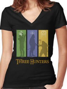 The Three Hunters Women's Fitted V-Neck T-Shirt